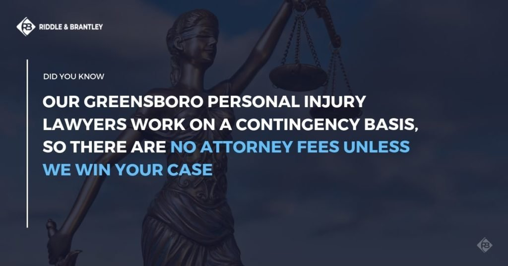Greensboro Personal Injury Lawyers - No Fee Unless We Win - Riddle & Brantley