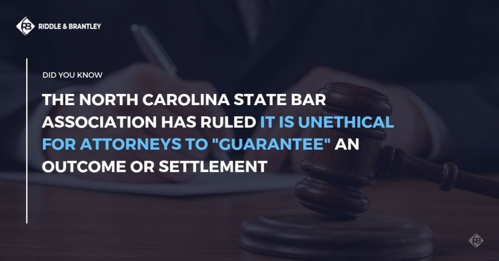 NC State Bar Rules Against Settlement Guarantees