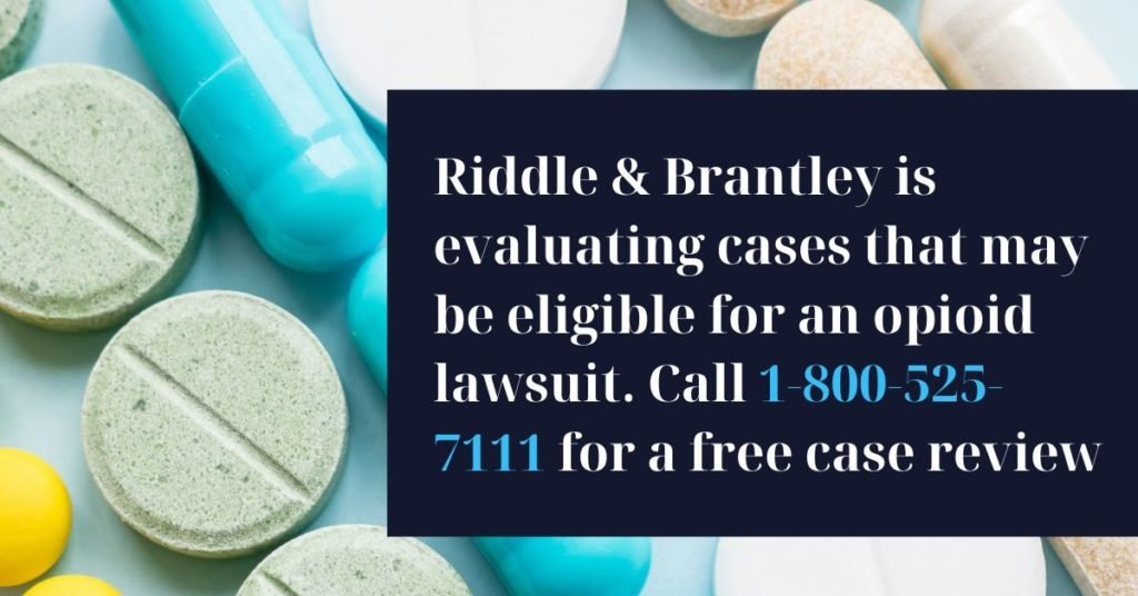 Opioid Lawsuit Lawyer - Riddle & Brantley LLP