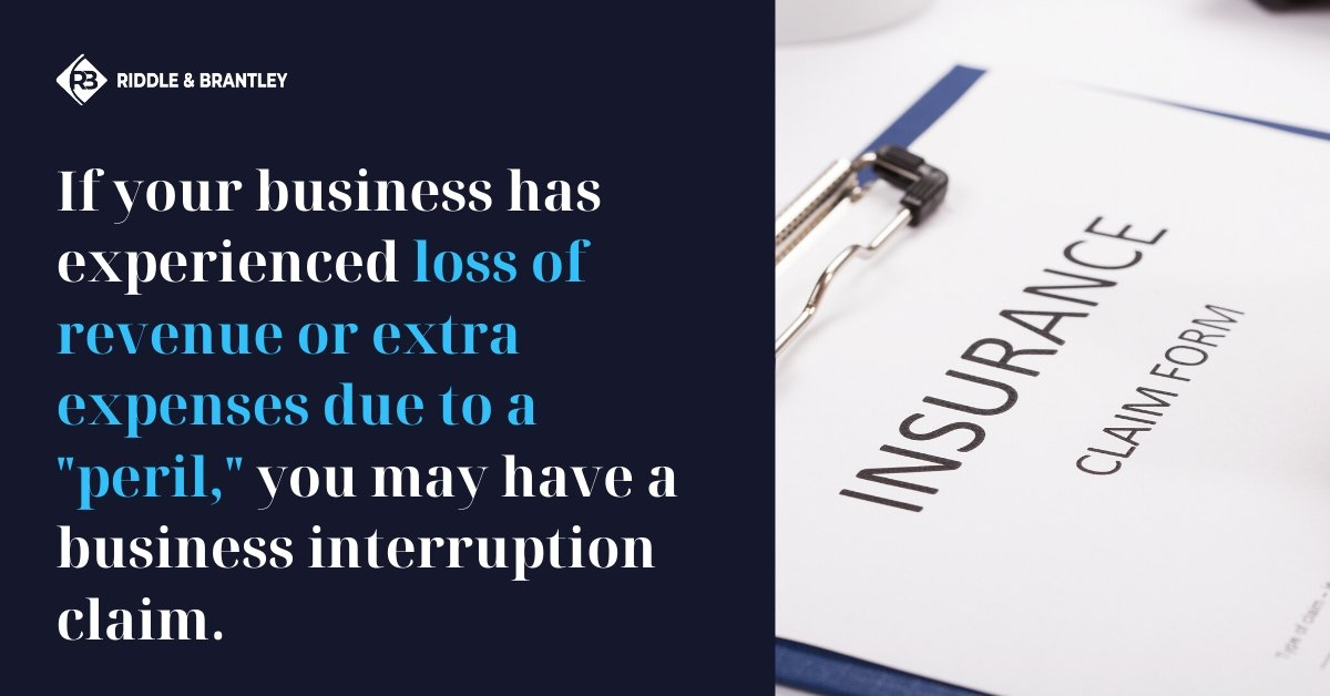 Business Interruption Claim Lawyer in North Carolina - Riddle & Brantley