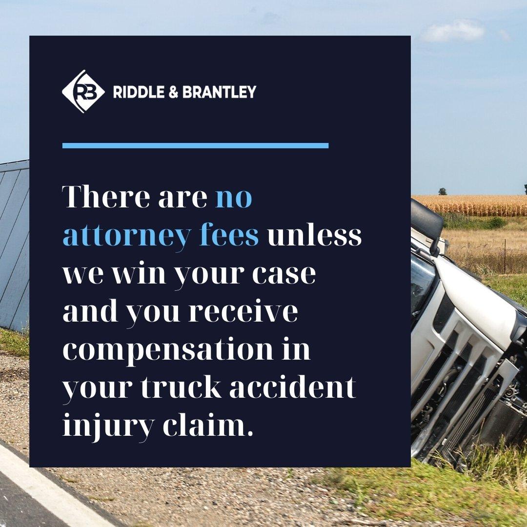 Affordable Truck Accident Lawyer Serving Davidson North Carolina - Riddle & Brantley