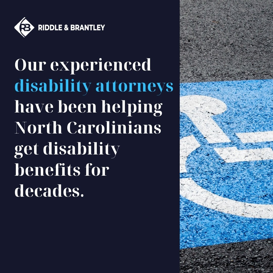 Experienced North Carolina Disability Lawyer - Riddle & Brantley