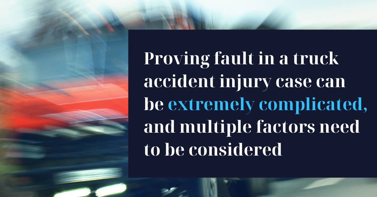 How to Prove Fault in a Truck Accident - Riddle & Brantley