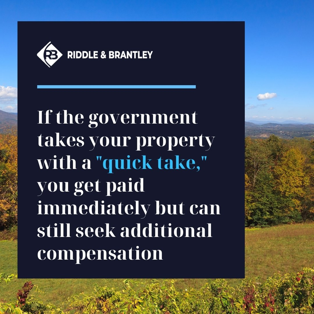 North Carolina Quick Take in Eminent Domain - Riddle & Brantley