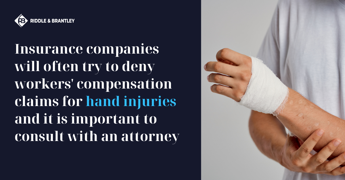 Workers Comp for Hand Injury - Riddle & Brantley NC Work Injury Lawyers
