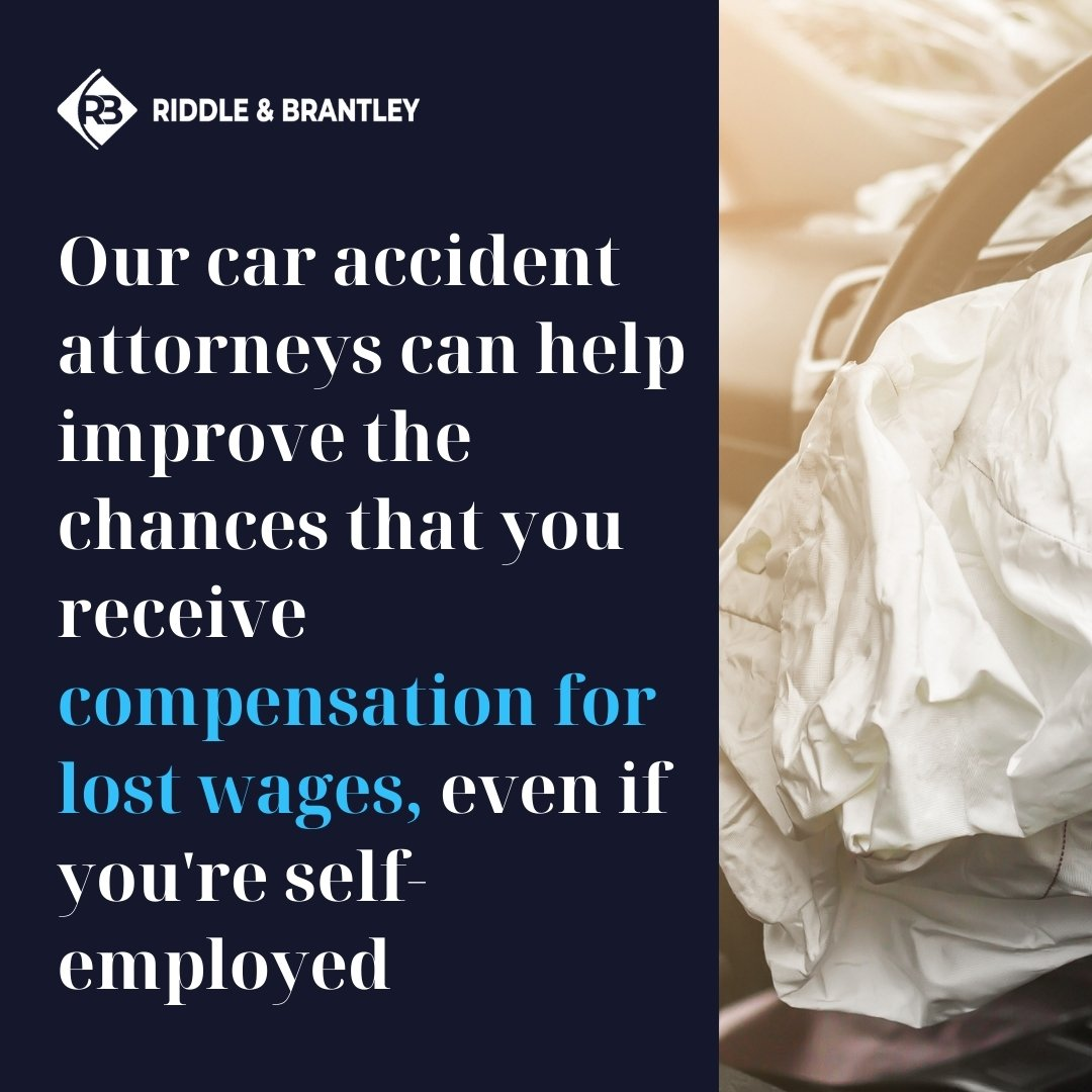 Car Accident Lawyers Handling Lost Wages Claims for Self-Employed - Riddle & Brantley