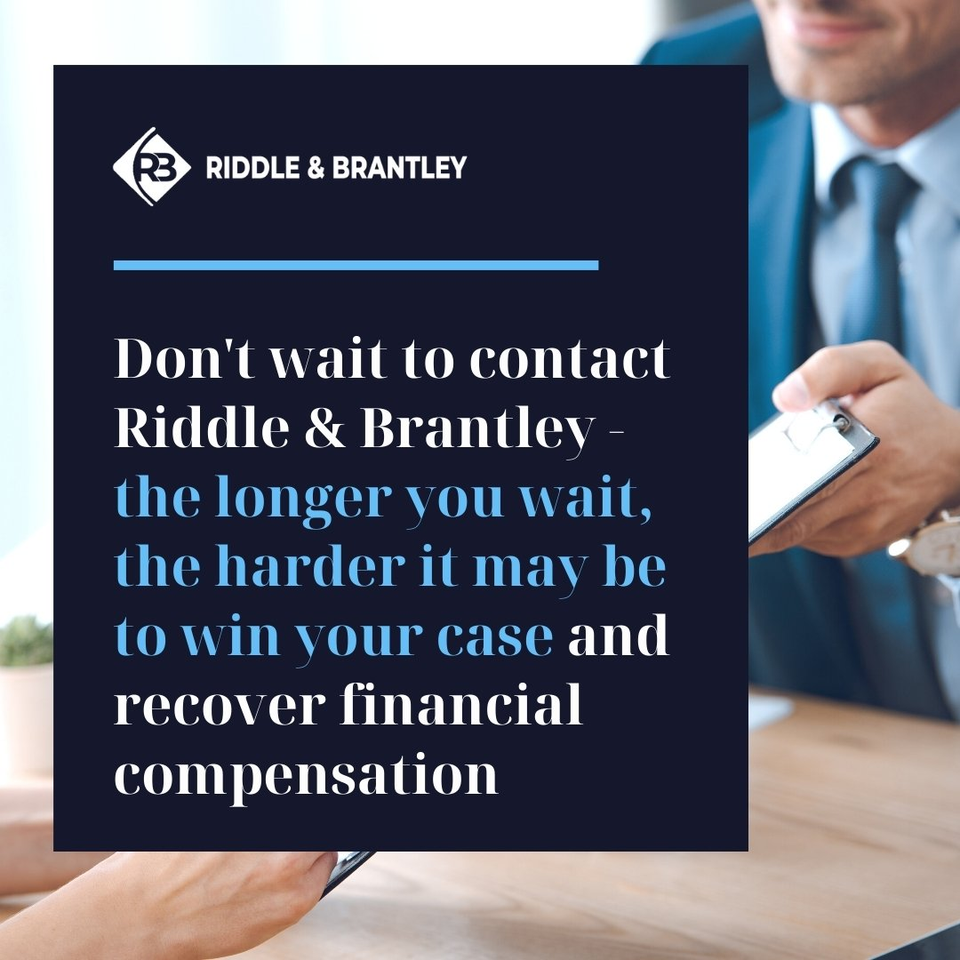Contact an Injury Attorney in North Carolina Today - Riddle & Brantley