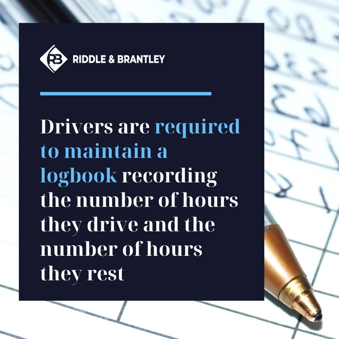 Driver Logbook and Hours of Service Rules - Riddle & Brantley