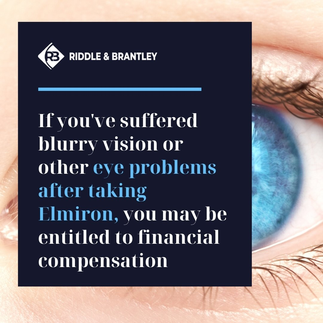 Blurry Vision and Elmiron Side Effects - Riddle & Brantley Elmiron Lawsuit Attorneys