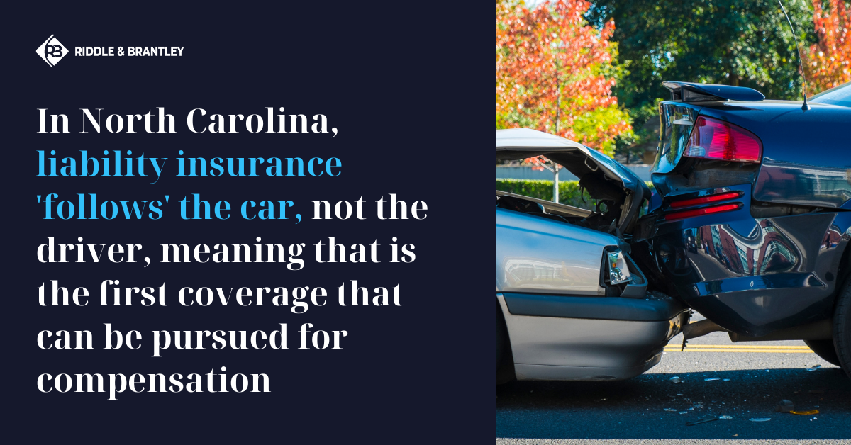 Does Insurance Follow the Car or the Driver in North Carolina - Riddle & Brantley