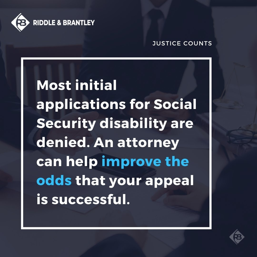 Do I Need a Lawyer to Appeal a Disability Denial - Riddle & Brantley