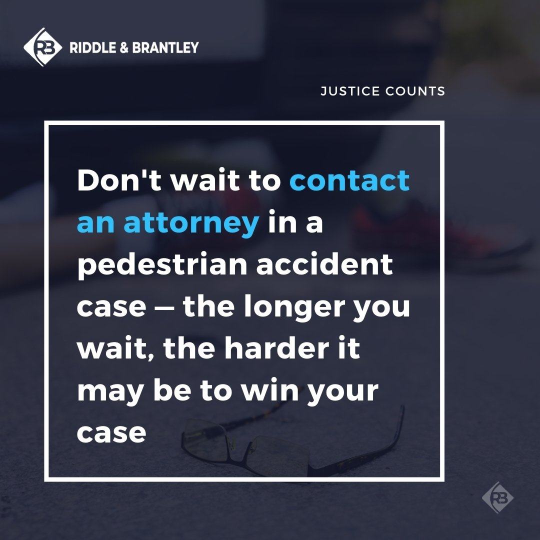 Experienced Pedestrian Accident Attorney in North Carolina - Riddle & Brantley