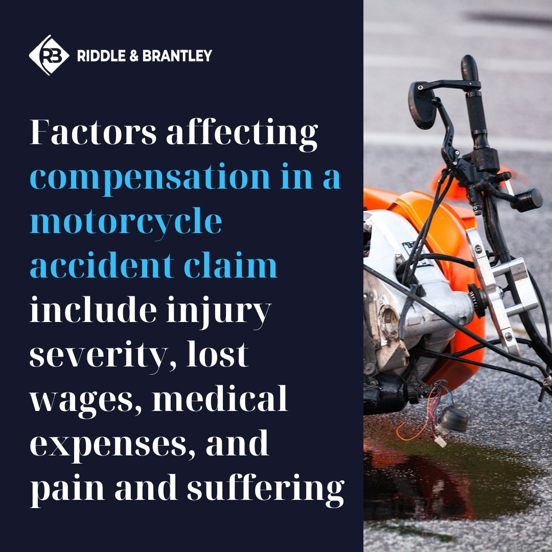 Factors Affecting Compensation in a Motorcycle Accident Case - Riddle & Brantley