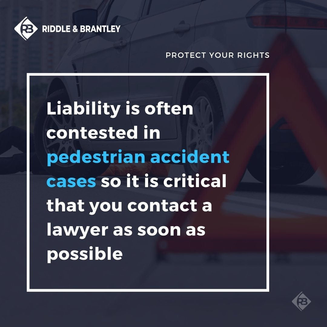 Investigating Pedestrian Accident Cases - Riddle & Brantley