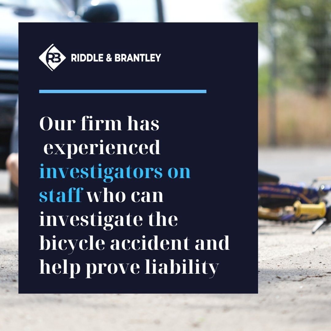 Bike Accident Investigations and Injury Claims - Riddle & Brantley