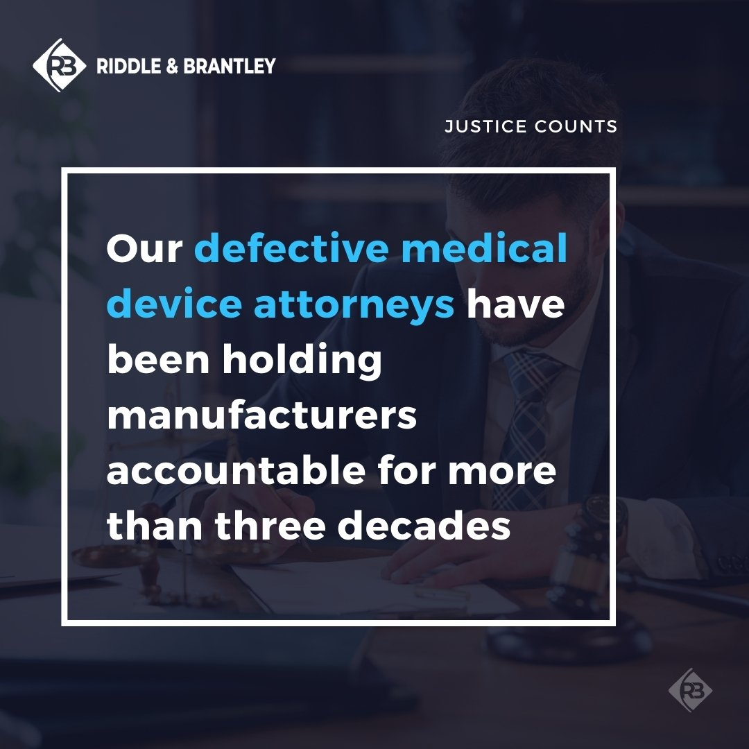 Defective Medical Device Lawyers at Riddle & Brantley
