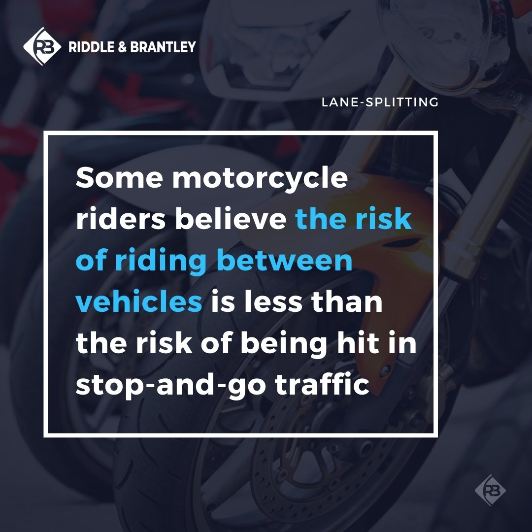 Is Lane Splitting Safe - Riddle & Brantley Motorcycle Accident Lawyers