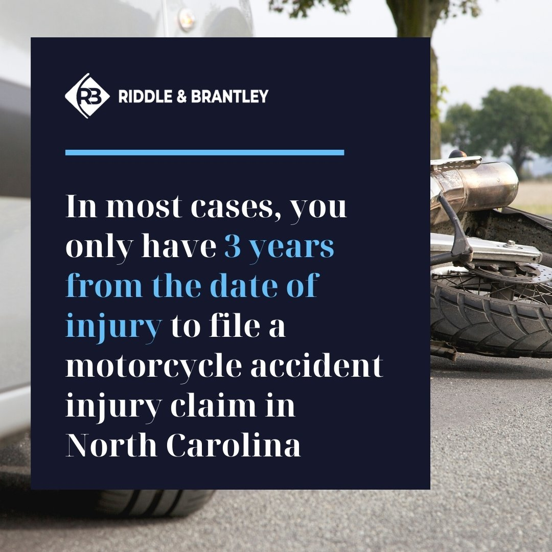 Motorcycle Accident Statute of Limitations in North Carolina - Kinston Accident Attorneys at Riddle & Brantley