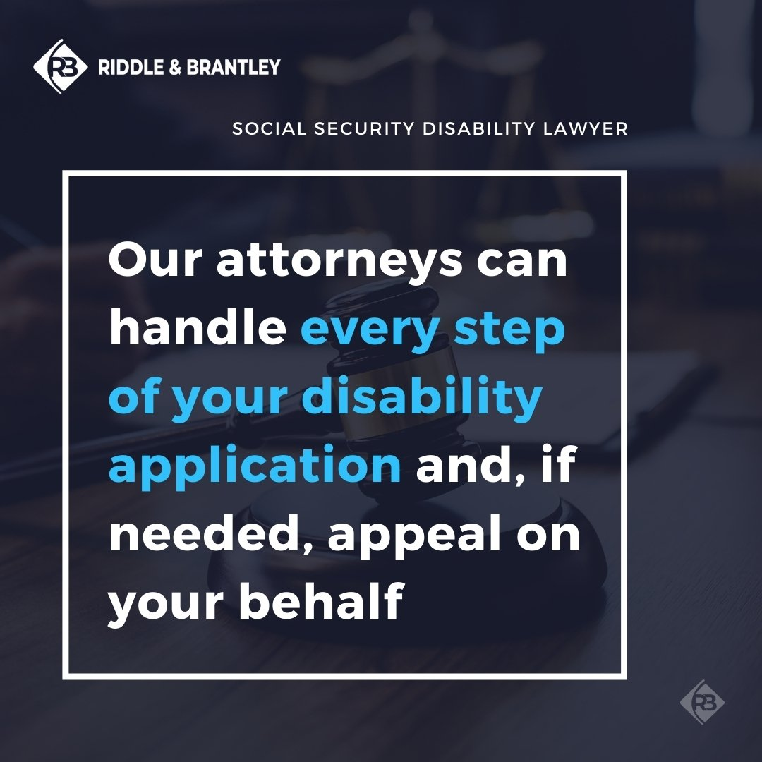 Help with the SSD Application Process - Riddle & Brantley