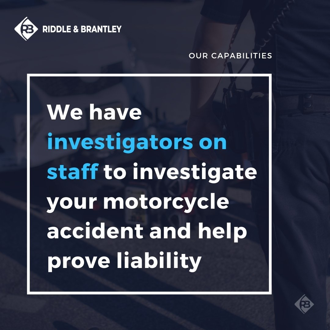 Motorcycle Accident Investigators - Riddle & Brantley