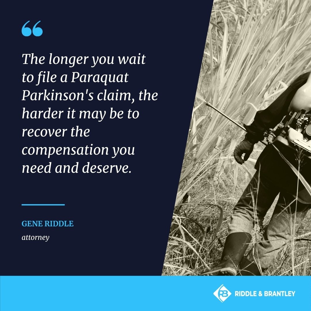 Paraquat Lawyer Handling Parkinsons Claims - Riddle & Brantley