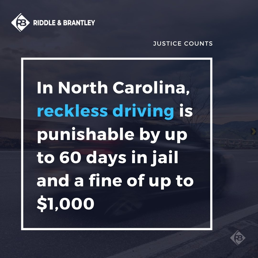 Reckless Driving Punishment in North Carolina - Riddle & Brantley