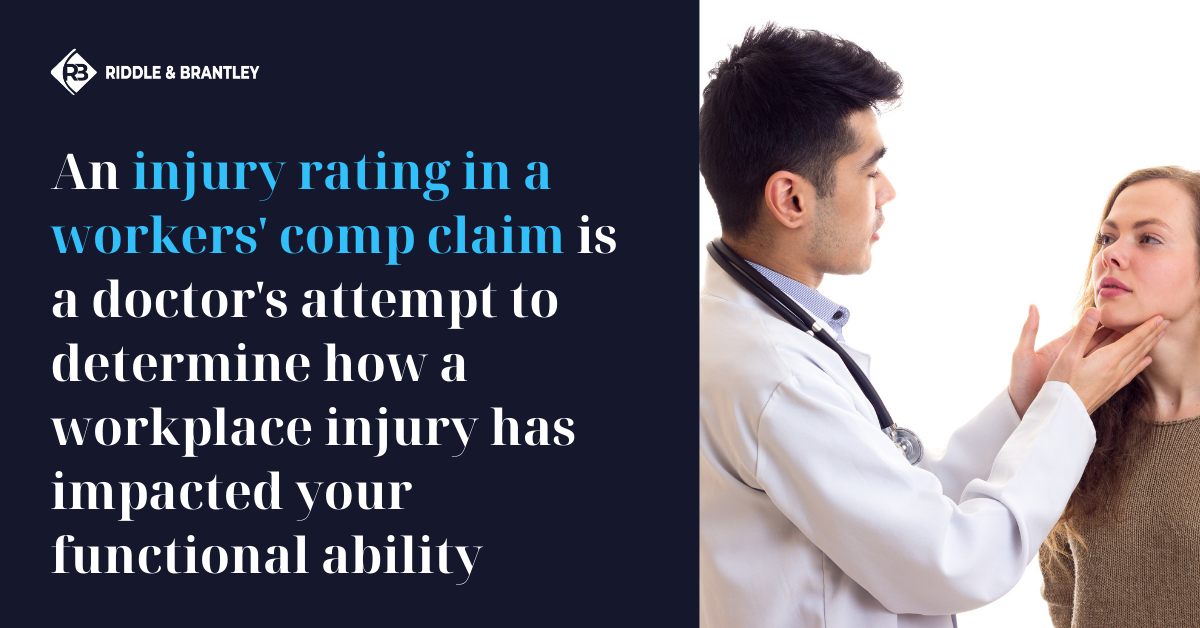 What is an Injury Rating in a Workers Comp Claim - Riddle & Brantley