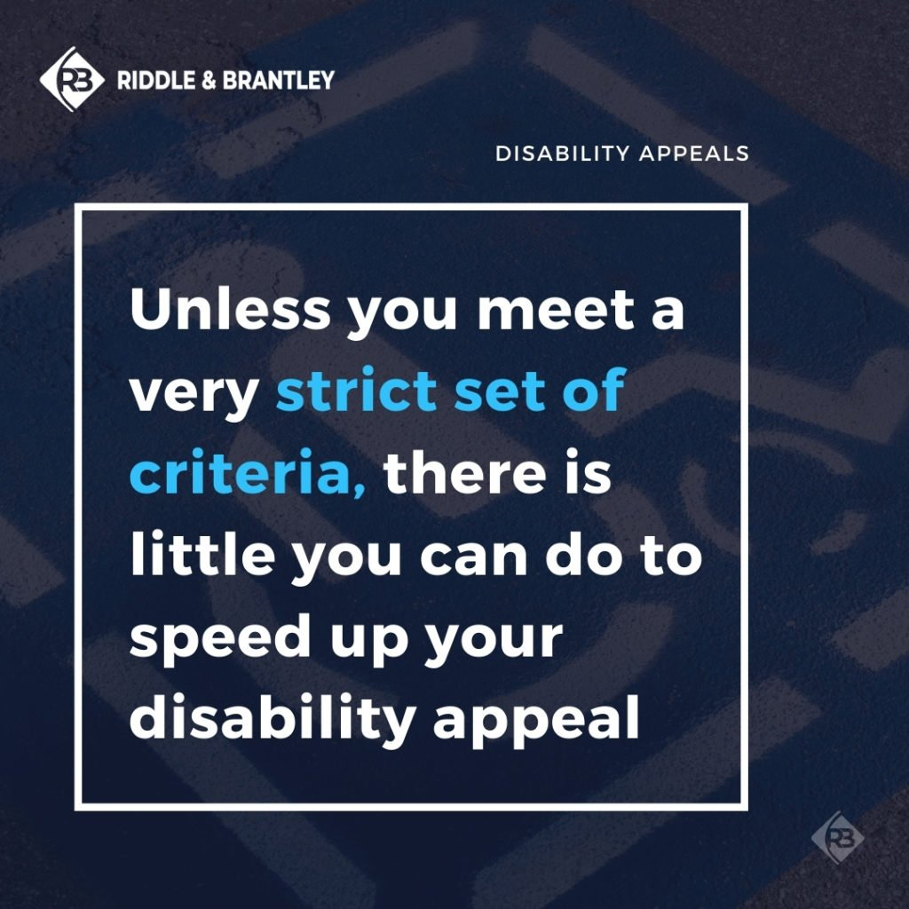 Can I Speed Up the Disability Appeal Process - Riddle & Brantley