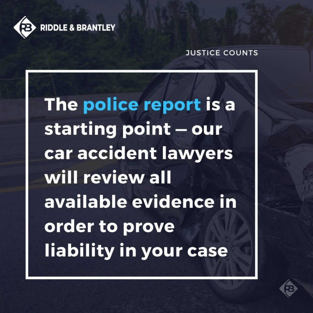 Police Report in Car Accident Cases - Riddle & Brantley