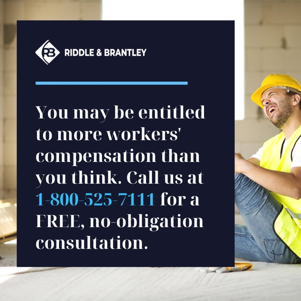 Workers Compensation Calculation in North Carolina - Riddle & Brantley
